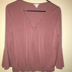 mauve blouse